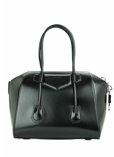 Givenchy Givenchy 101611419 Deri Antigona Medium Kulplu Fermuar Kapatmalı Kadın Omuz Çantası Siyah
